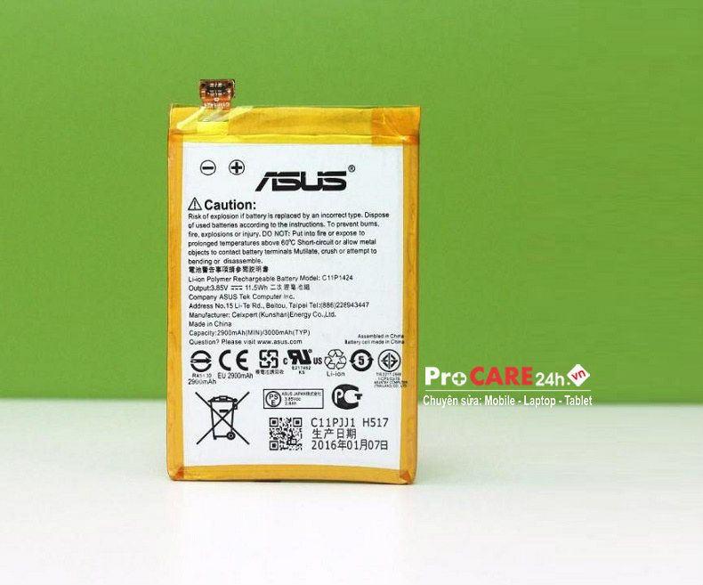 Thay pin Asus Zenfone 2 giá rẻ, chính hãng, lấy liền ở HCM