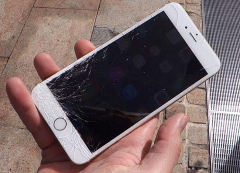 Màn hình iPhone 6 Plus bị vở